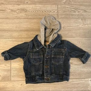 Oshkosh Jean jacket with removable hood 3 months